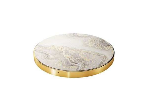 iDeal of Sweden Qi Charger Sparkle Greige Marble