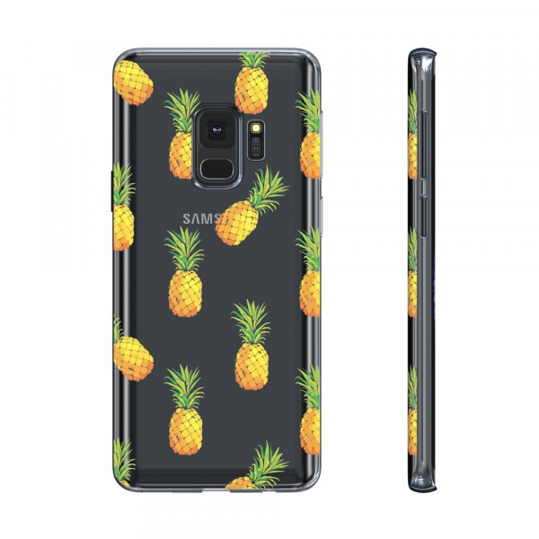 BeHello Premium Gel Case Pineapple voor Samsung Galaxy S9