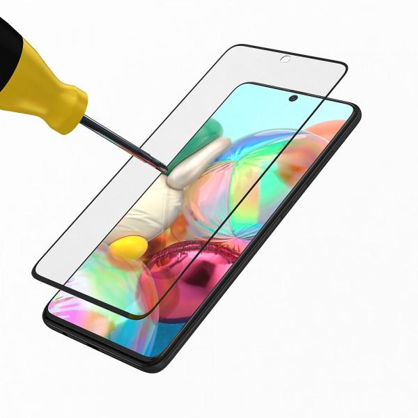 BeHello Samsung Galaxy A71 Screenprotector Tempered Glass - High Impact Glass