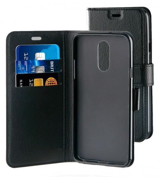 BeHello Gel Case Wallet Zwart voor LG Q7
