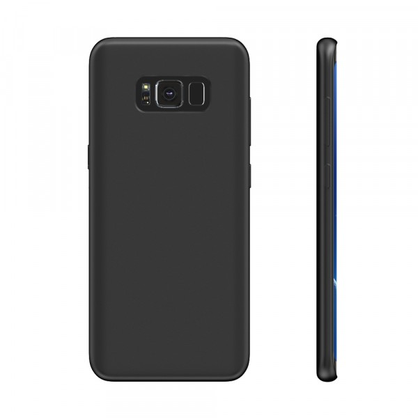 BeHello Premium Liquid Silicon Case Zwart voor Samsung Galaxy S8+
