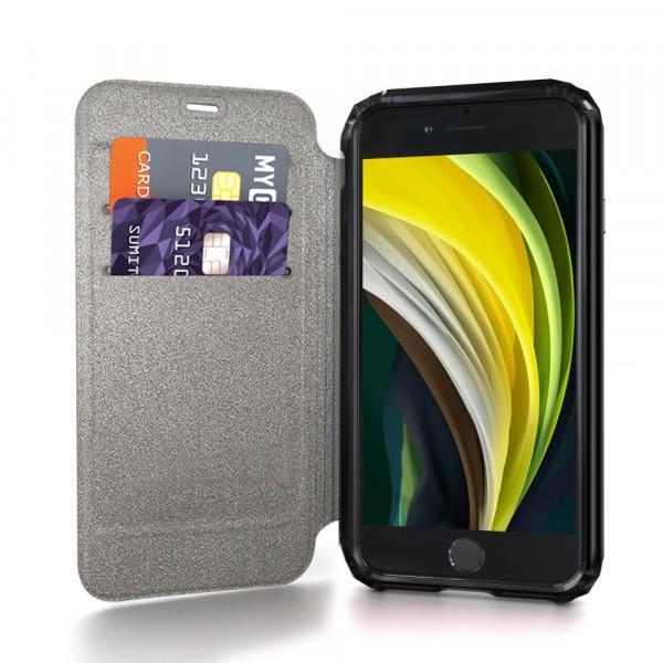 SoSkild Defend Wallet Case Zwart voor iPhone SE (2020) 8 7