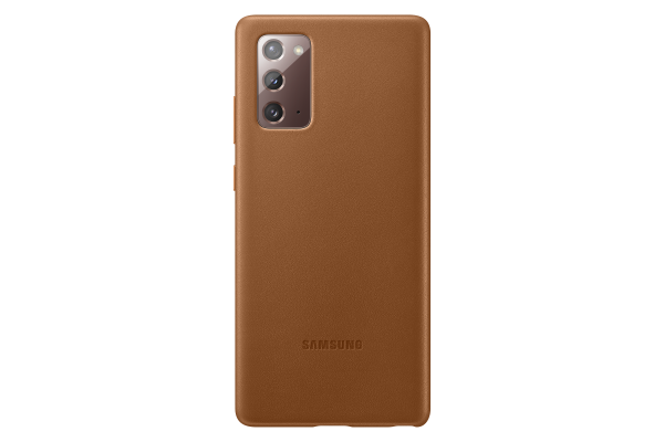 Samsung Galaxy Note20 Leather Cover Bruin