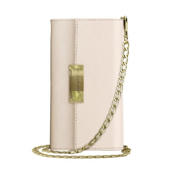 iDeal of Sweden iPhone XS/X Crossbody Wallet Saffiano Beige