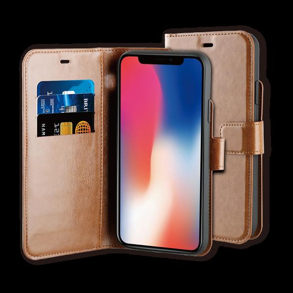 BeHello iPhone 11 Hoesje - Gel Wallet Case Met Ruimte Voor 3 Pasjes Bruin