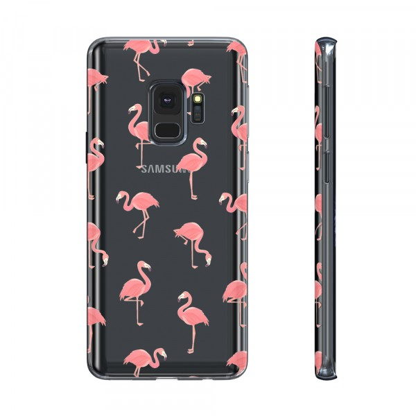 BeHello Premium Gel Case Flamingo voor Samsung Galaxy S9