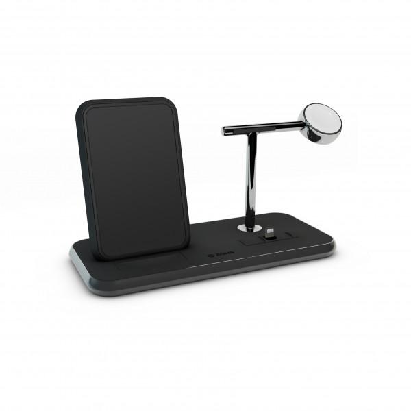 ZENS Wireless Charger Dual + Dock + Watch 10W Aluminium Black