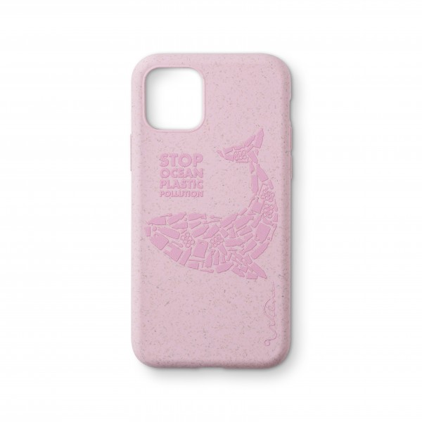 Wilma Smartphone Eco Case Bio Degradeable Tone-in-Tone Matte Whale Pink voor iPhone 11