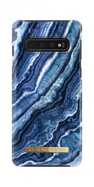 iDeal of Sweden Samsung Galaxy S10 Fashion Back Case Indigo Swirl