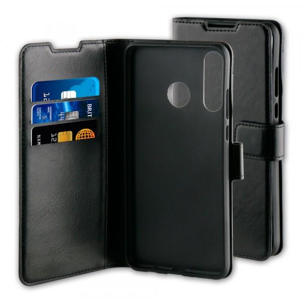 BeHello Huawei P30 Lite Hoesje - Gel Wallet Case Met Ruimte Voor 3 Pasjes Zwart