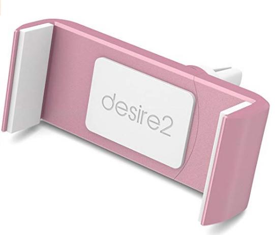 Desire2 Autohouder in Rose Goud voor bevestiging in het ventilatierooster