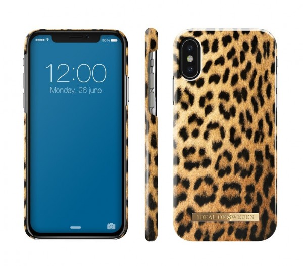 iDeal of Sweden Fashion Back Case Wild Leopard voor iPhone Xs X