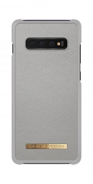 iDeal of Sweden Samsung Galaxy S10+ Fashion Case Saffiano Light Grey