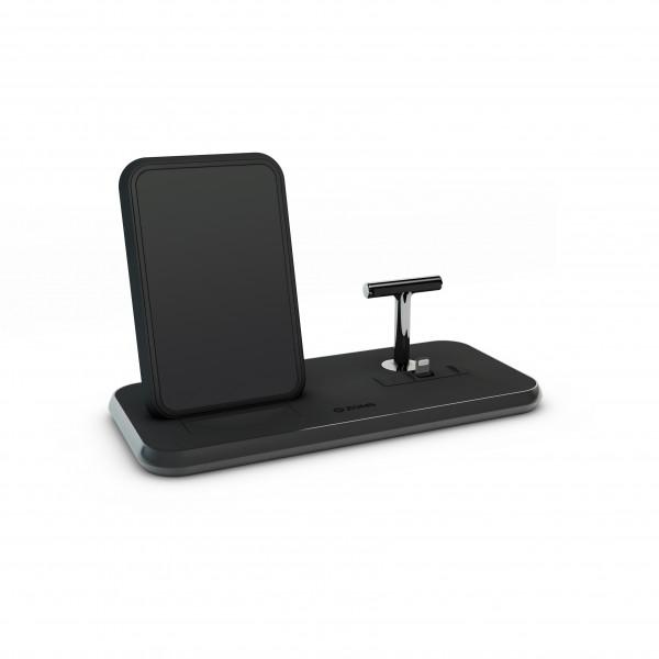 ZENS Wireless Charger Dual + Dock 10W Aluminium Black