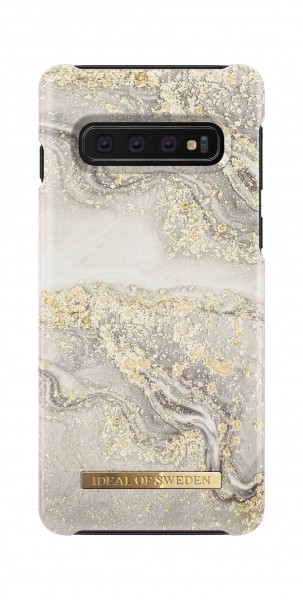 iDeal of Sweden Samsung Galaxy S10 Fashion Back Case Sparkle Greige Marble