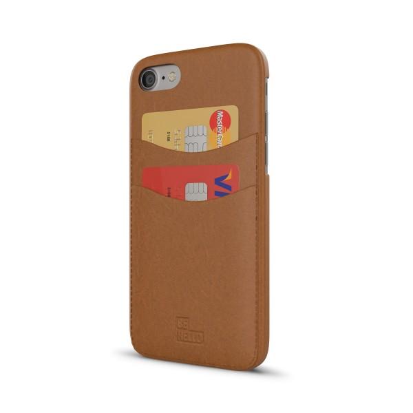 BeHello Card Back Case Bruin voor iPhone 8 7