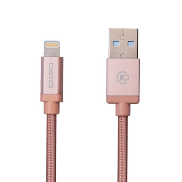 Cadyce USB laad- en synchroniseer kabel voor Lightning 2meter lengte Cotton Braided/METAL Connector