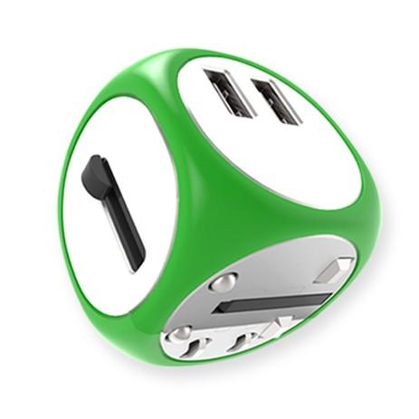 Cadyce Universele Reislader Universeel 2x USB 3.0 poorten Fast Charging Geschikt voor meer dan 1
