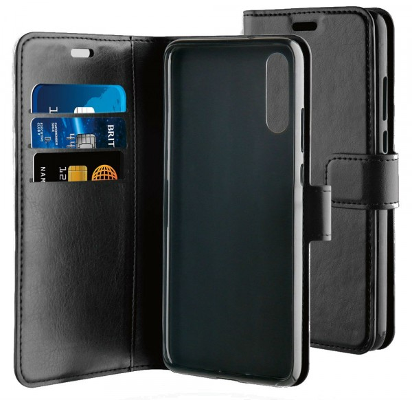 BeHello Gel Wallet Case Zwart voor Huawei P20