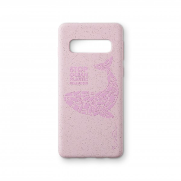 Wilma Smartphone Eco Case Bio Degradeable Tone-in-Tone Matte Whale Pink voor Samsung Galaxy S10