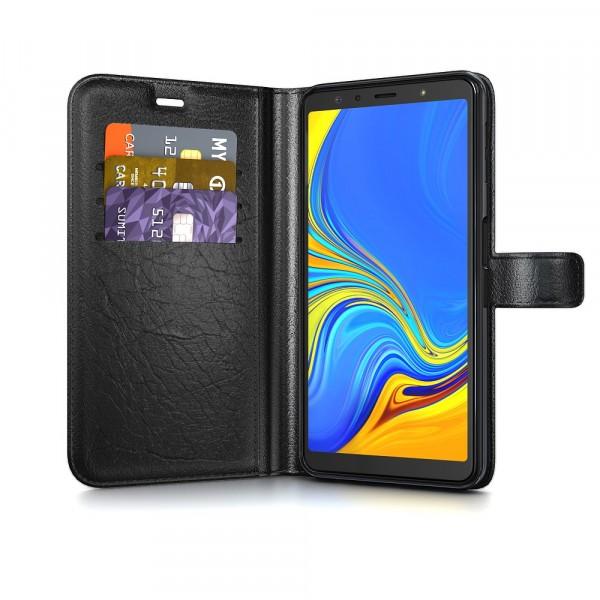 BeHello Gel Wallet Case Zwart voor Samsung Galaxy A7 (2018)