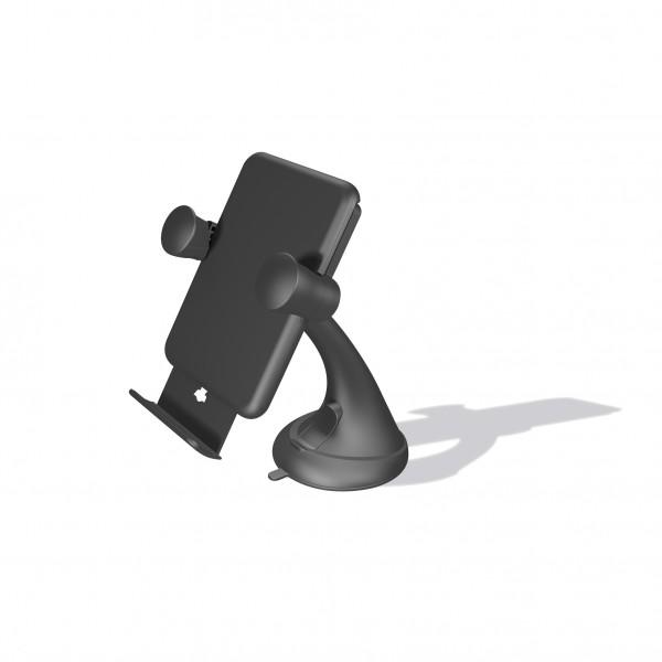 ZENS Draadloze Autolader met houder 5W Zwart