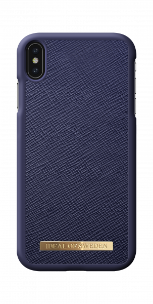 iDeal of Sweden iPhone XS Max Fashion Case Saffiano Navy
