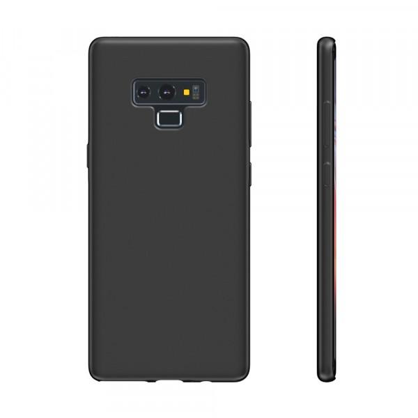 BeHello Premium Liquid Silicon Case Zwart voor Samsung Galaxy Note 9