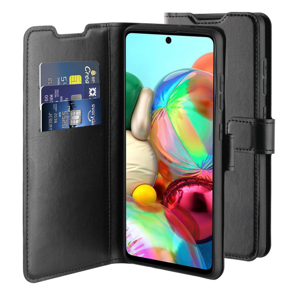 BeHello Samsung Galaxy A72 Gel Wallet Case Black