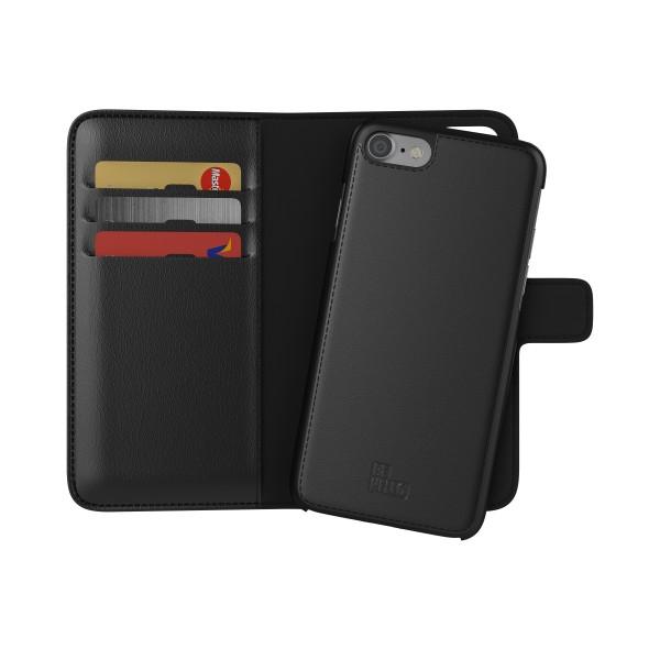 BeHello iPhone 8 7 6s 6 Hoesje I 2-in-1 Wallet Case met Ruimte Voor 3 Pasjes Zwart
