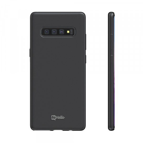 BeHello Premium Samsung Galaxy S10 Liquid Silicone Case Black