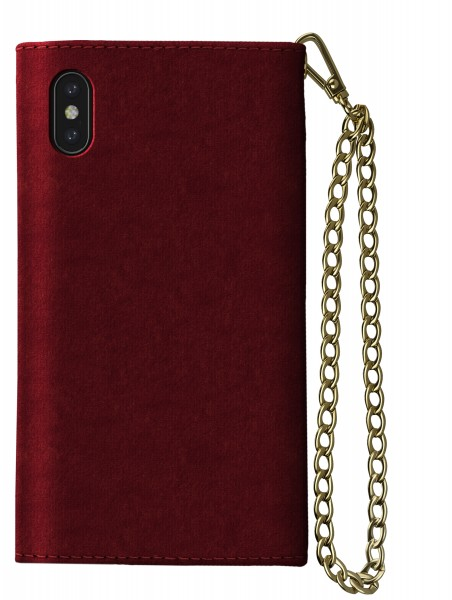 iDeal of Sweden iPhone XS Max Mayfair Clutch Velvet Red