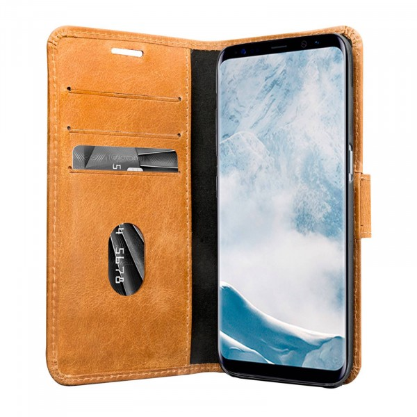 dbramante1928 Copenhagen Book Case Golden Tan voor Samsung Galaxy S8+