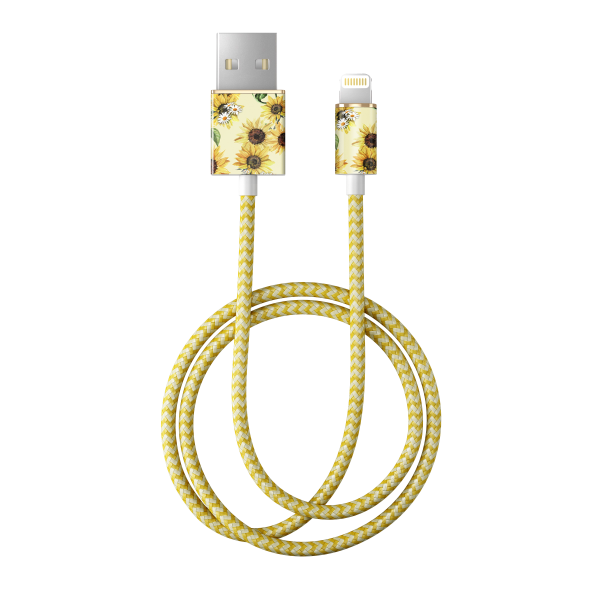 iDeal of Sweden Charge and Sync Lightning Fashion Cable 1m Sunflower Lemonade