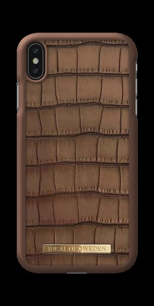 iDeal of Sweden iPhone XS Max Fashion Case Capri Brown Croco