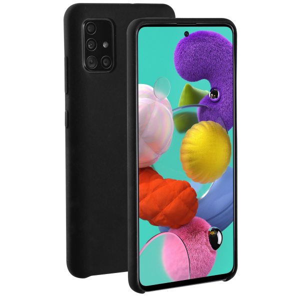 BeHello Premium Samsung Galaxy A51 Liquid Silicone Case Black