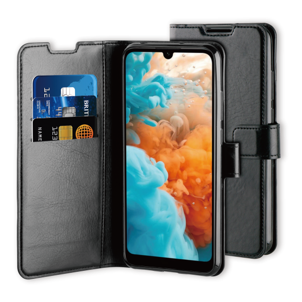 BeHello Huawei Y6 (2019) Gel Wallet Case Black