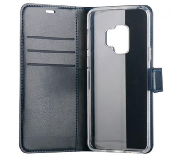 BeHello Samsung Galaxy S9 Hoesje - Gel Wallet Case Met Ruimte Voor 3 Pasjes Blauw