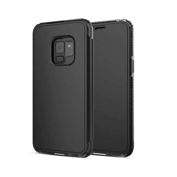 SoSkild Defend Impact Wallet Case Zwart voor Samsung Galaxy S9