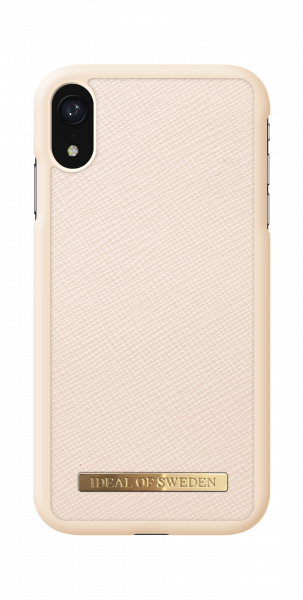 iDeal of Sweden iPhone Xr Fashion Case Saffiano Beige