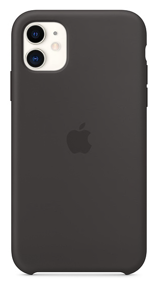 Apple Back Case Silicone Black voor iPhone 11