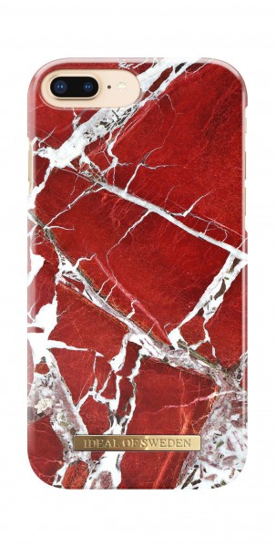 iDeal of Sweden Fashion Back Case Scarlet Red Marble voor iPhone 8 Plus 7 Plus 6s Plus 6 Plus