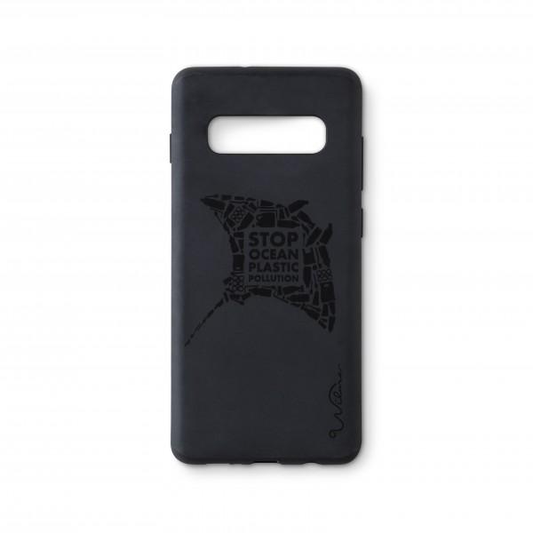 Wilma Smartphone Eco Case Bio Degradeable Tone-in-Tone Matte Manta Black voor Samsung Galaxy S10