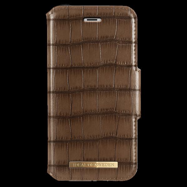 iDeal of Sweden iPhone 8 Plus / 7 Plus / 6S Plus / 6 Plus Fashion Wallet Capri & Como Brown Croco