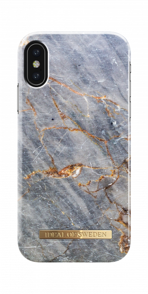 iDeal of Sweden iPhone XS/X Fashion Back Case Royal Grey Marble