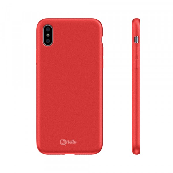 BeHello Premium iPhone Xs/X Liquid Silicon Case Red